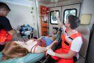 Policjanci ratowali kobietę we wstrząsie anafilaktycznym